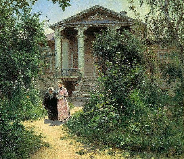 «Бабушкин сад» перекликается с другой картиной мастера.