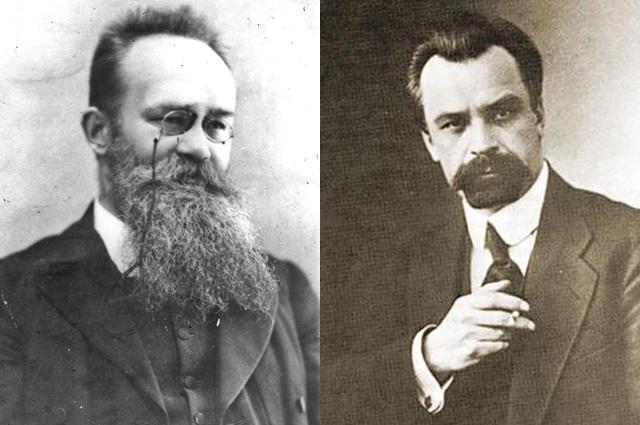 Михаил Грушевский (слева) и Владимир Винниченко.