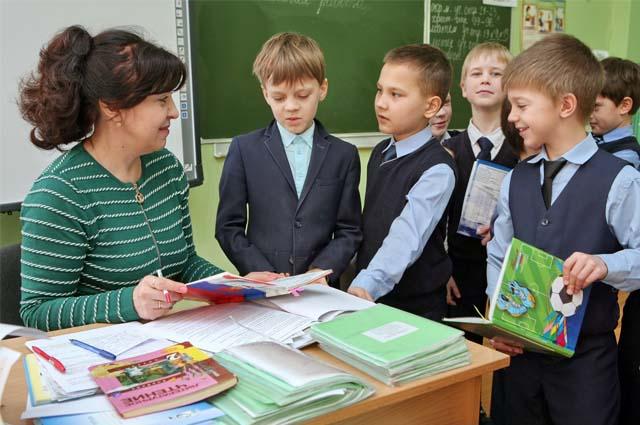 учитель, ученики, урок, школа,
