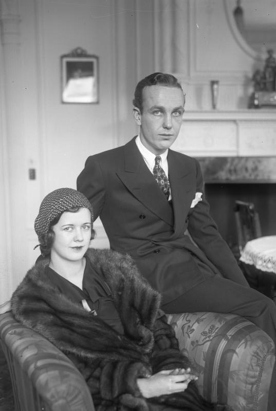 Уильям Рэндольф Херст-младший с женой во время визита в Берлин, 1930 год