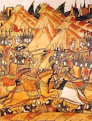 Битва на Косовом поле. Миниатюра из Лицевого летописного свода Ивана Грозного