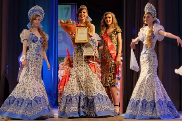 дочь Юля в платье и кокошнике под гжель стала одним из символов Универсиады.