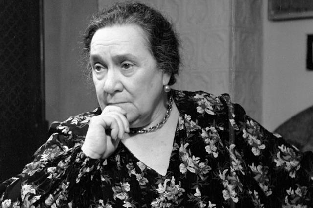 Народная артистка СССР Вера Пашенная. 1957 год