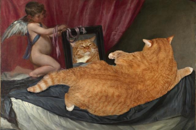 Заратустра заменил Венеру перед зеркалом на картине Веласкеса.