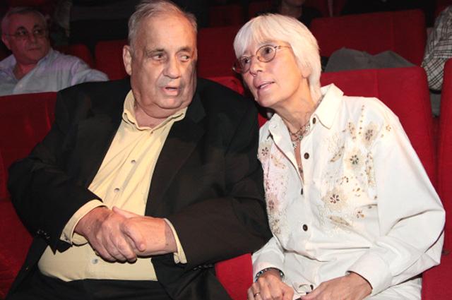 Эльдар Рязанов с супругой, 2009 г.