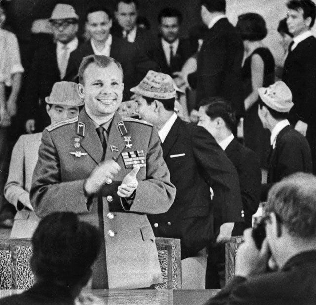 Гагарин в Казани в 1967 году.