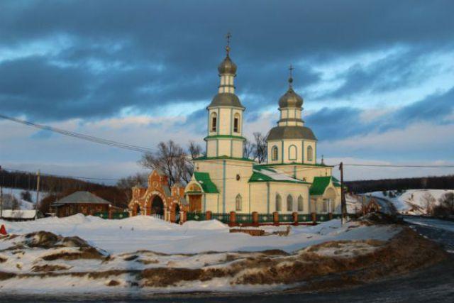 Богоявленский храм, Прислониха, январь 2016.