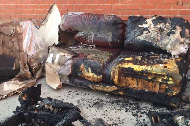 Сгорел склад готовой продукции
