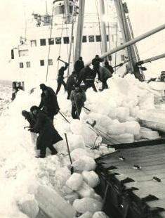 Геннадий Лысогорский: Нашему экипажу приходилось бороться не только со штормо, но и со льдами.
