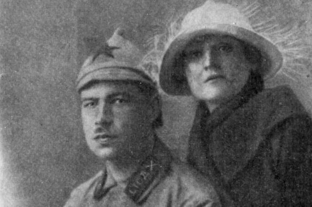 Говоров с женой. 1923 год.