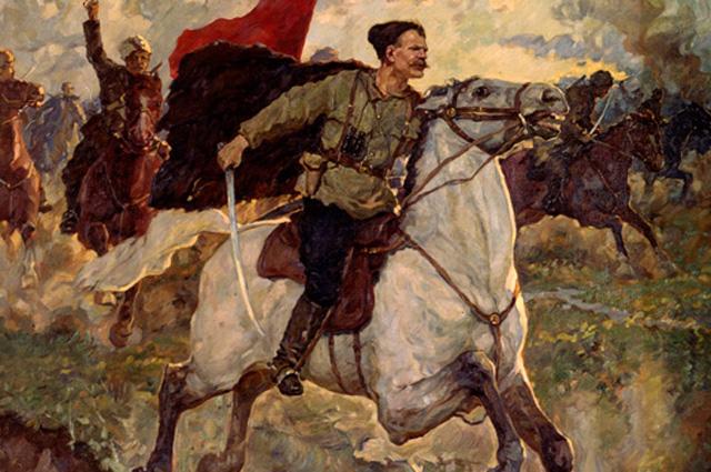 Картина П. Васильева В. И. Чапаев в бою
