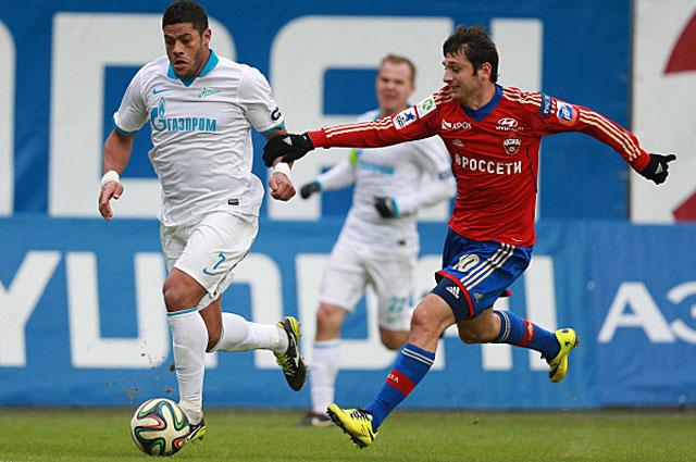 Халк и Алан Дзагоев в матче 21-го тура чемпионата России
