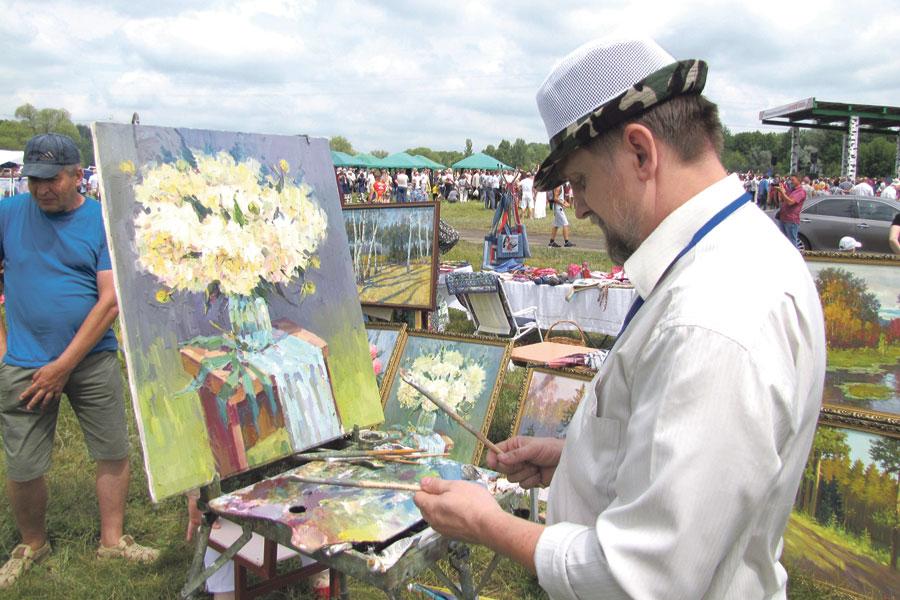 Юрий Рязанцев из Чернянки в числе десяти белгородских художников принял участие в пленэре, на который пригласил Владыка Иоанн.
