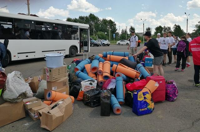 Волонтёры прибыли в Тулун.