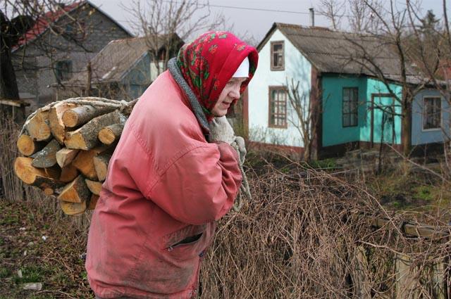 дрова, деревня, печное отопление