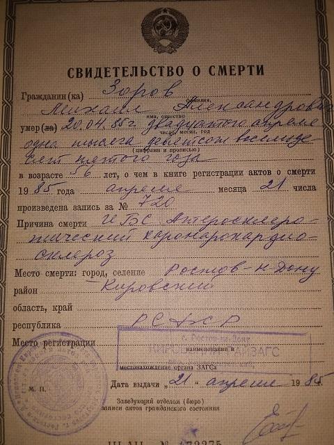 Родственники бережно хранят документы деда Миши.