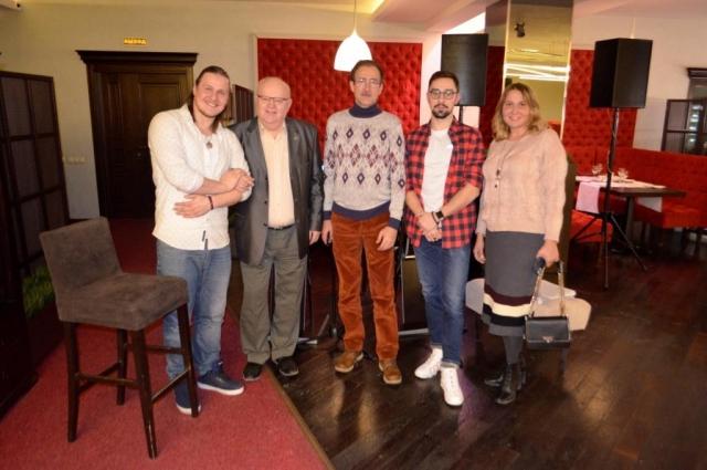 Д. Куклев, С. Шатохин, В. Романенко, И. Гутманис и Ю. Грегуль.