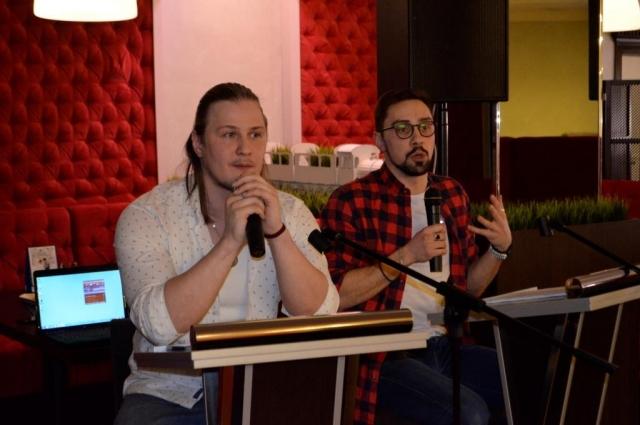 Актеры Тюменского драмтеатра – Дмитрий Куклев и Игорь Гутманис.