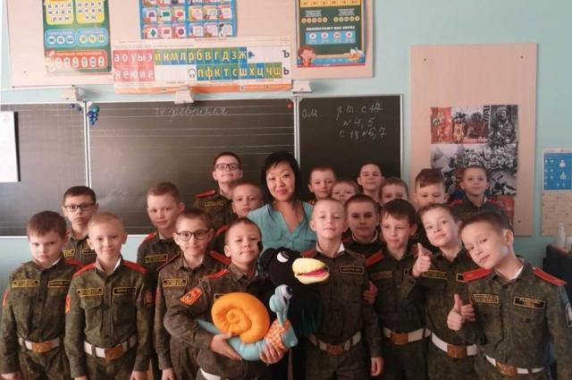 Второклассники «Барнаульского кадетского корпуса»