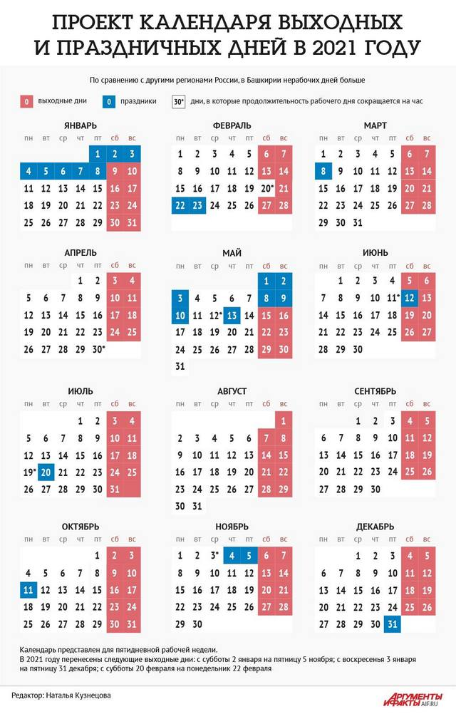 праздничные дни 2021