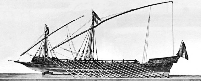 Голландская галера, по образцу которой были построены корабли Азовской флотилии.