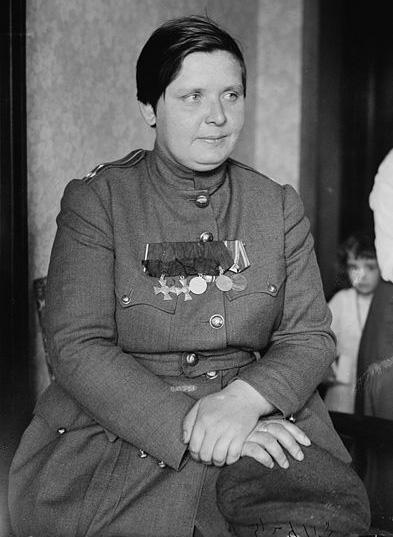 Мария Бочкарёва в США, 1918 год