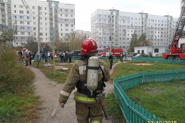 Пожар на улице Гармонной.