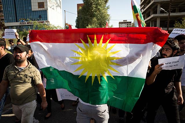 Флаг Курдистана.