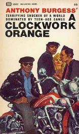 Обложка одного из первых изданий романа «Заводной апельсин»