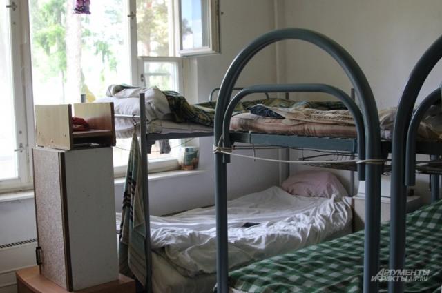 Комната в приюте.