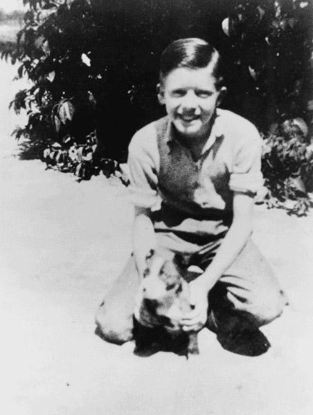 Джимми Картер в возрасте 13 лет. 1937 г.