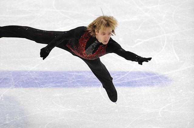 Евгений Плющенко на Олимпиаде в Ванкувере, 2010 год.