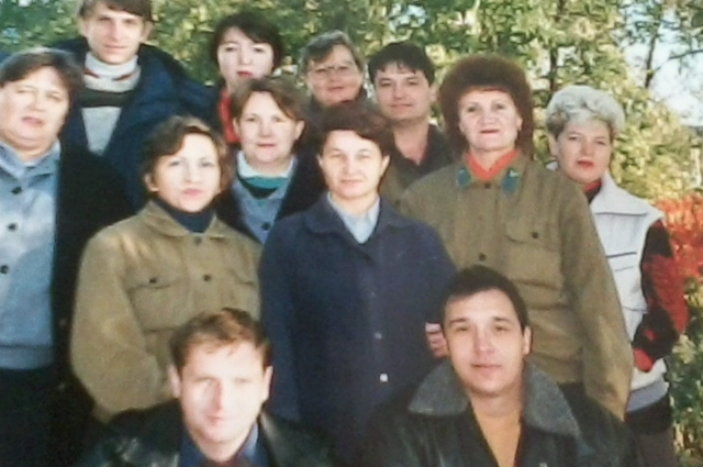 Галина Медведева с коллективом.