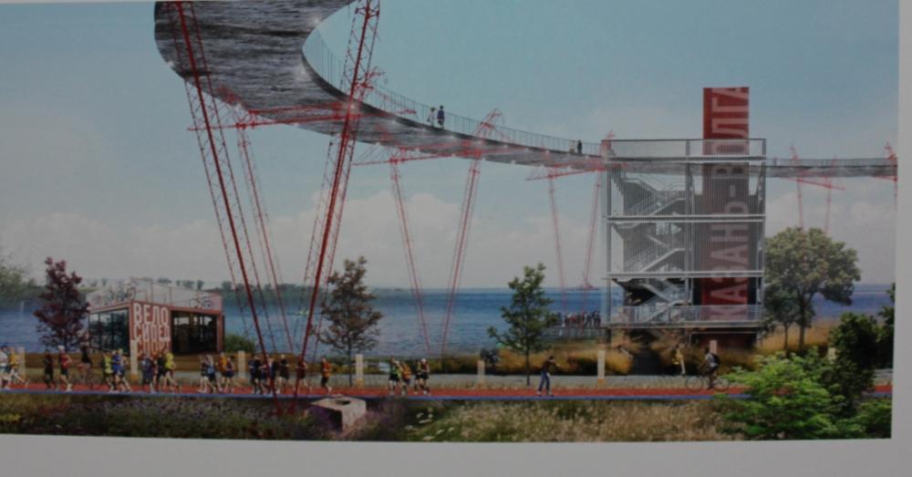 Архитекторы предложили разные варианты того, как попасть на полуостров.