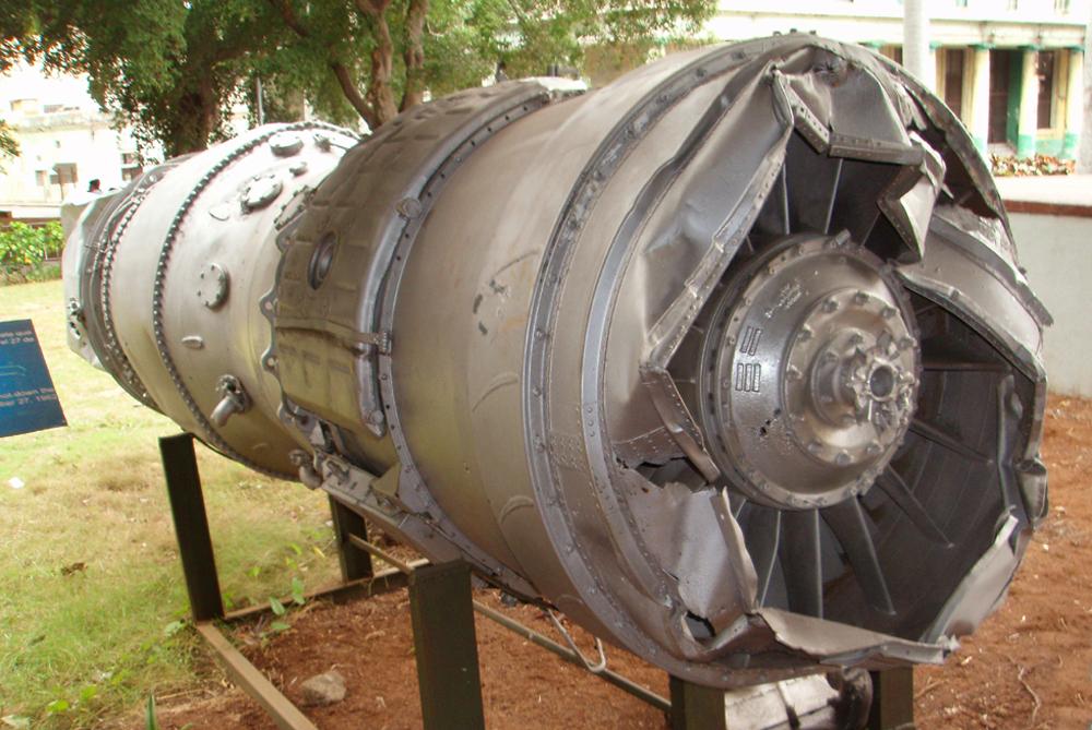 Двигатель U-2F в Музее революции в Гаване.