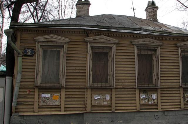 Дом из романа Мастер и Маргарита . Мансуровский пер., дом 9