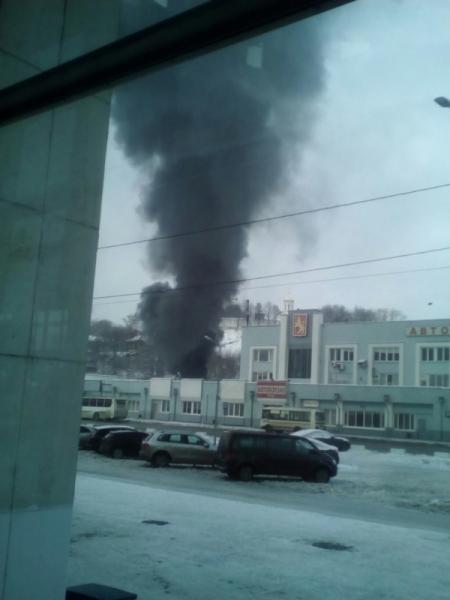 Пожар на вокзале