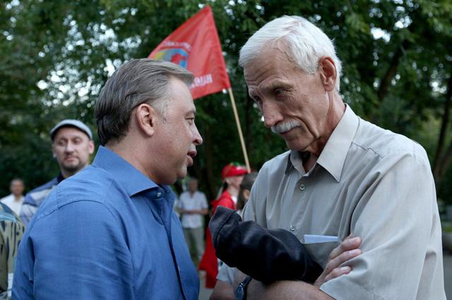 Вадим Кумин (слева) готовится к «решающему рывку».