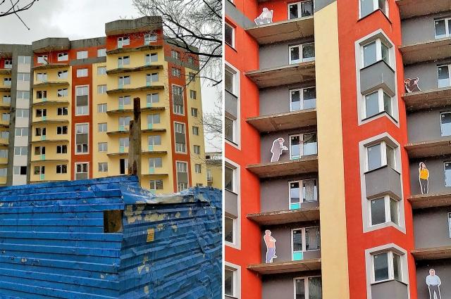 Однако дольщики не торопятся верить властям. На недоделанных балконах они расставили картонных жильцов - как немой укор строителям и чиновникам, которые больше десятилетия не могут решить проблему ЖК «Охта-Модерн».