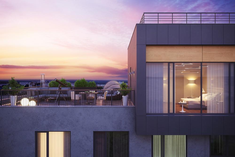 Эксклюзивные варианты тоже пользуются популярностью, например, квартиры с террасами