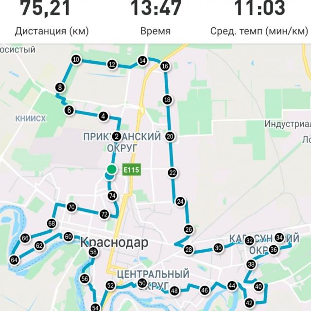 Ренат с каждым разом бьет собственный рекорд, прогуливаясь по Краснодару.