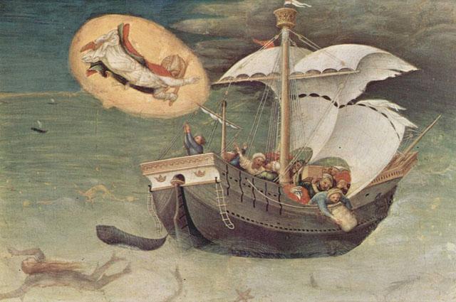 Спасение моряков (Джентиле да Фабриано, ок. 1425)