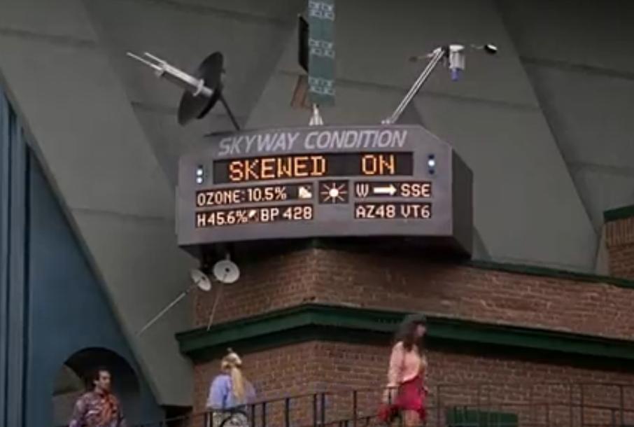 Экран с информацией о пробках на дорогах