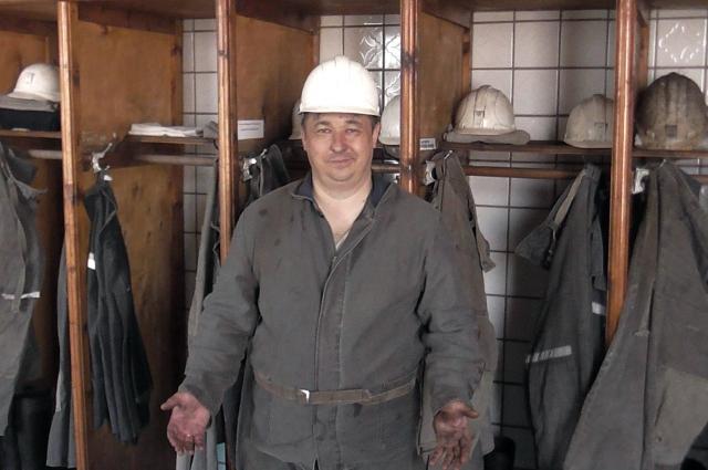 Сергей Шведко во время посещения шахты «Северная» на Донбассе.