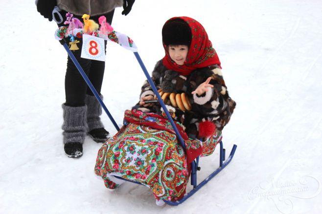 Парад санок в Белгороде