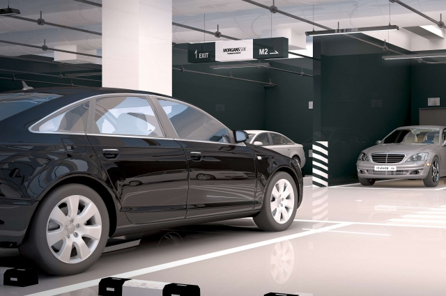 Въезд на теплый паркинг предусмотрен только доя жителей дома – электронная система «читает» номера автомобилей.