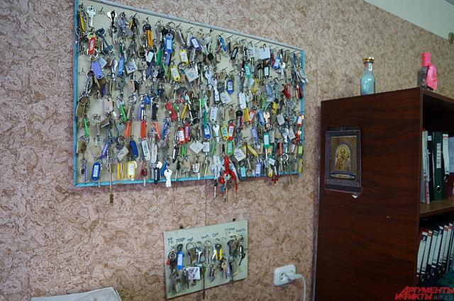 Ключи от комнат в кабинете коменданта