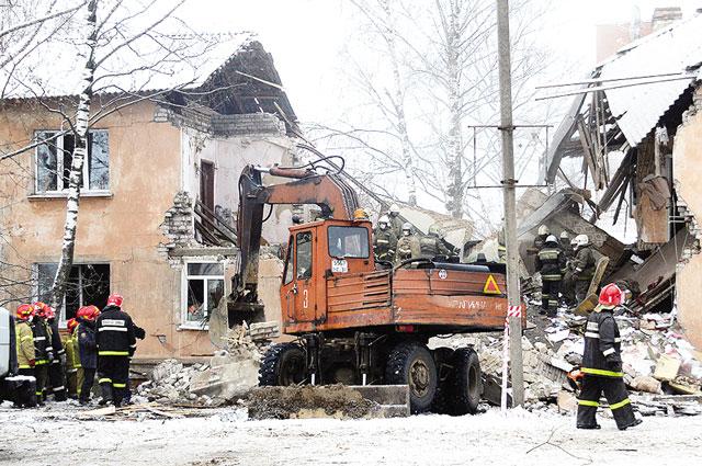 Взрыв бытового газа в жилом доме.