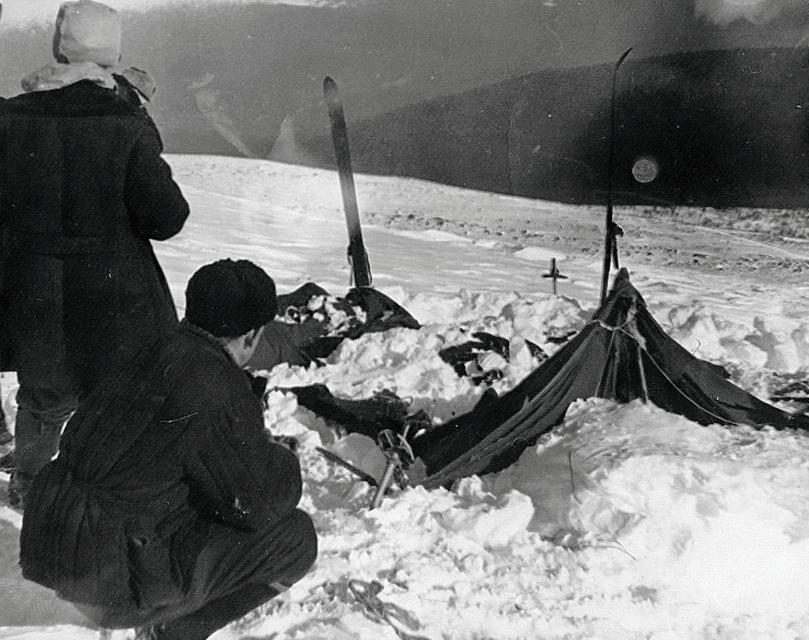 Перевал Дятлова - палатка группы.