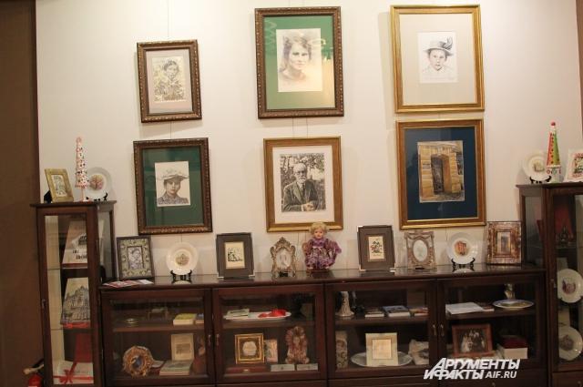 Центральное место в экспозиции музея занимает портрет ученого и ее учителя Фрейда.